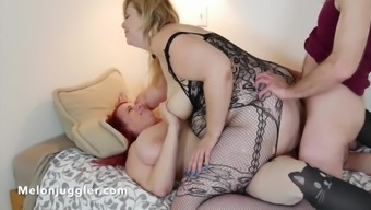 Lila Lovely gets male & female double penetrated