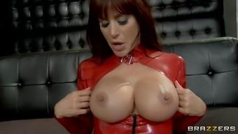 Pretty porn star with big beautiful tits enjoying a hardcore ass fuck