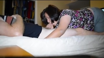 asian wife swallows load and nice peeks down blouse