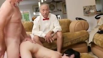 Old guy young girl shower Alex Harper