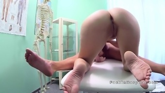 Big cock doctor between patients legs