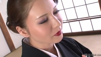 This hot busty Japanese MILF is showing off a lot of what many of us like