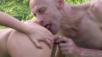 His gf cheating with old man in the fields