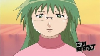Wonderful looking green haired hentai babe is good enough at giving BJ