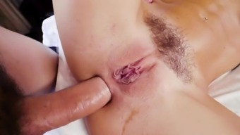 Teen tries anal and enjoys cum on pussy