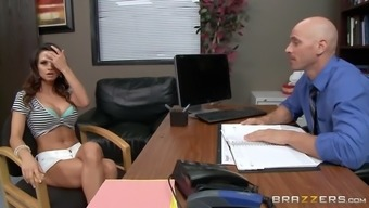 ashley sinclair busted out her big tits in her boss' office