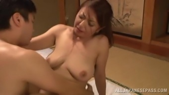 japanese wife with natural tits fucked after pussy fingering