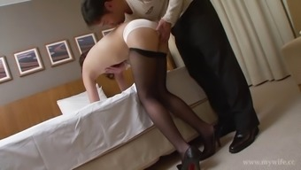 Lusty Asian hottie opens her love tunnel for business