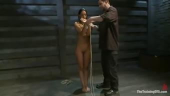 session of intense bondage pain