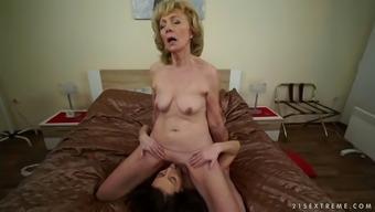 kinky euro granny szuzanne enjoys katy rose's glorious pussy