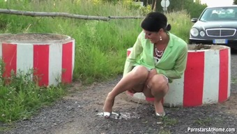 Naughty Celine Takes A Pee And Sucks Big Hard Dong