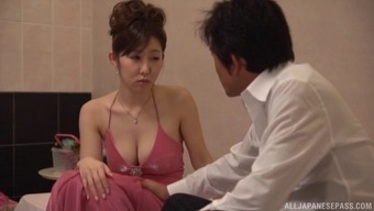 Cheating Asian MILF strips naked and has her cunt fucked hard