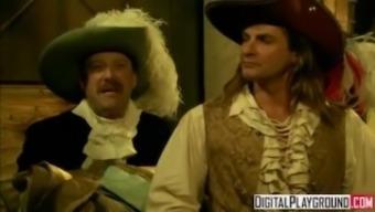 Classic Pirates 2: Jesse Jane and Belladonna in hot rough lesbian sex