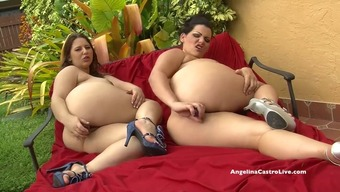 Angelina Castro and Lexi Lockheart stuff their pussies with toys