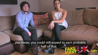 FakeAgentUK Swinging fit couple try threesome on casting