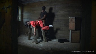 Sex slaves punished by a stiff black cock for not obeying the rules