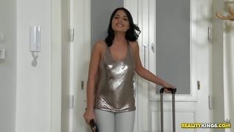 Cute babe Aida Sweet sucks dick and gets fucked like there's no tomorrow
