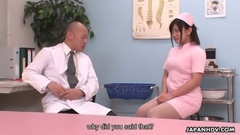 Adorable nurse Aika Hoshino is getting down and dirty with her doctor