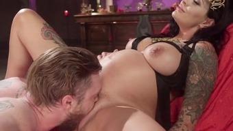 Divine Fertility: Pregnant woman dominates slave boy!