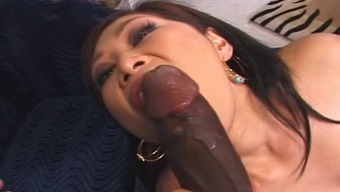 Japanese Yumi gets Big Black Beef!