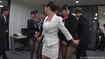 Office workers from the Far East going wild over the stiffest cocks