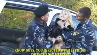 Whore in hands of police