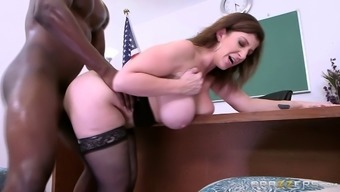 Magnificent Sara Jay and the chocolate cock of her dreams