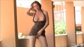 Playful Meghan shows her perfect boobs and a booty