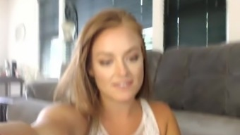 You have never seen a MILF play with her ass like this...