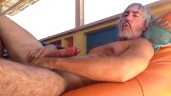 Grandpa loves releasing pressure out of his balls