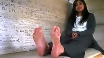 Cute Indian teen has sweet feet