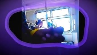Flash in bus she like it