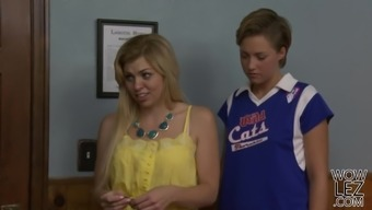 Newbie teen lesbians Tara Morgan and Bailey Bae