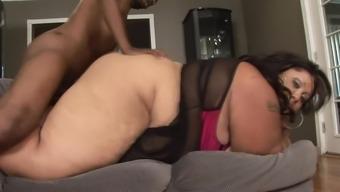 Black cock for fatty mature ebony