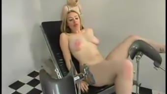 Tattooed Cowgirl gets whipped and toyed by Adriann Nicole