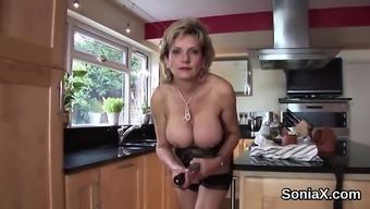 Adulterous english milf lady sonia flaunts her massive ballo
