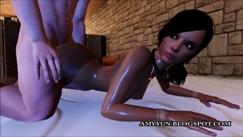 Sexy Black 3D Woman Taking Anal In Multiplayer Dating Sim