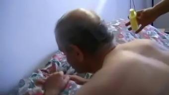 Teen masseuse fucked by grandpa