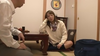 Japanese schoolgirl gets spanked n fingered by her father