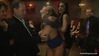 Two cute chubby girls get fucked by a group of men and enjoy it