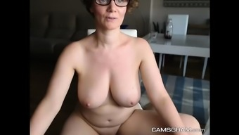 Stunning Big Breasted Milf Shows Off With Her Wet Twat