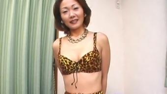 Elegant Japanese MILF stripping on camera exposing her sexy body