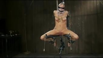 Bondage exorcism through fuckmachine