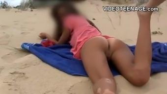 lovely teen at beach.mp4