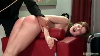 Nasty schoolgirl babe gets spanked hard part5