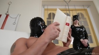Katrin Wolf and Lucy Heart enjoy a hot BDSM session with a slave