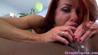 Busty mature gags on her sub bfs black cock