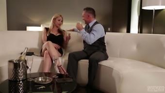 Kleio Valentien and Sarah Vandella hook up with a mature businessman