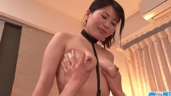 Massage ends with hard sex for tight Nana Nakamura