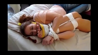 Whitney Morgan & Shauna Ryanne gagged and feet tied to face